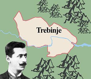 Map of Trebinje