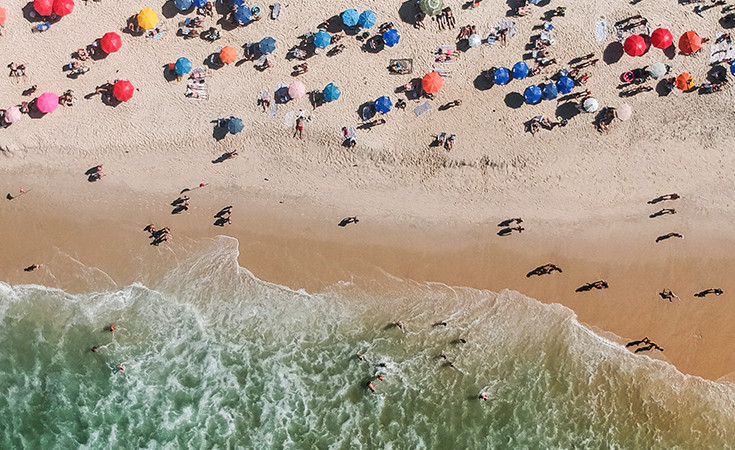The Copacabana Beach