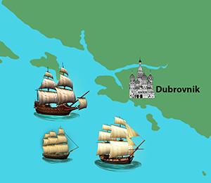 Mapa Dubrovnika