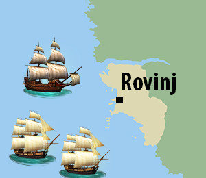 Map of Rovinj