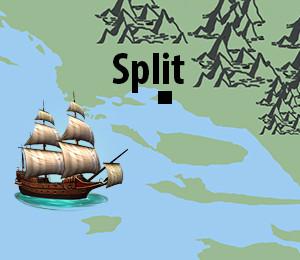 Mapa Splita