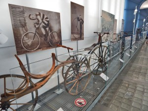Wooden bicycles at National Museum of Technology in Prague