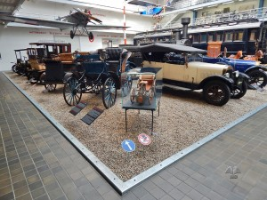 Vintage cars at National Museum of Technology in Prague