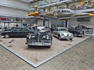 Old cars at National Museum of Technology in Prague