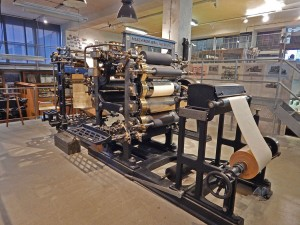 Old printing presses at National Museum of Technology in Prague