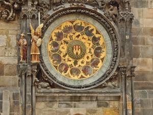 Calendar dial of the Astronomical clock in Prague