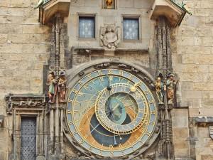 Clock dial of the Astronomical clock in Prague