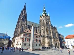 Saint Vitus Cathedral in the Prague's Castle