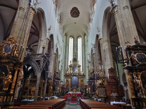 The interior of the Church of Our Lady before Tyn