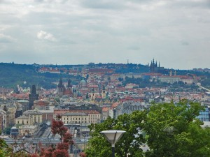 View from the Vitkov hill in Prague