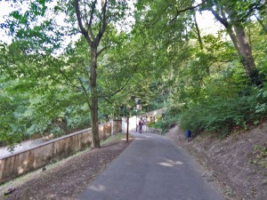 Path that leads to the Petrin Tower