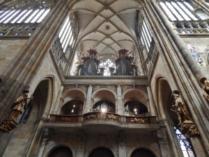 Inside of the Saint Vitus Cathedral in Prague