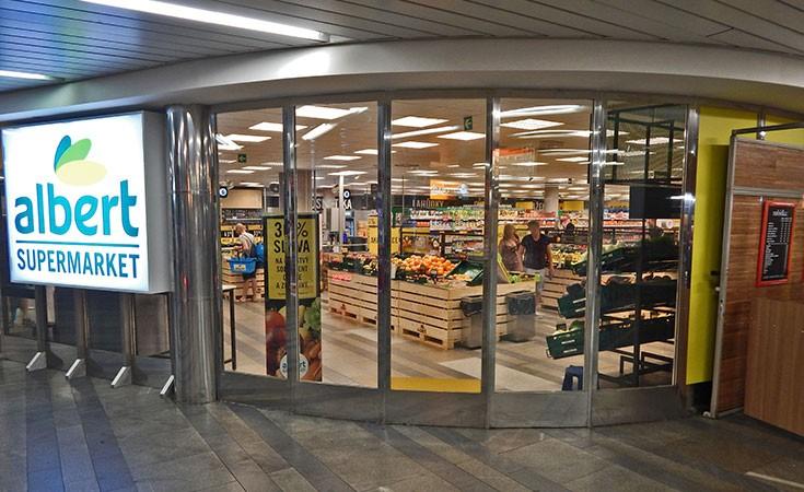 Albert supermarket u centru Praga