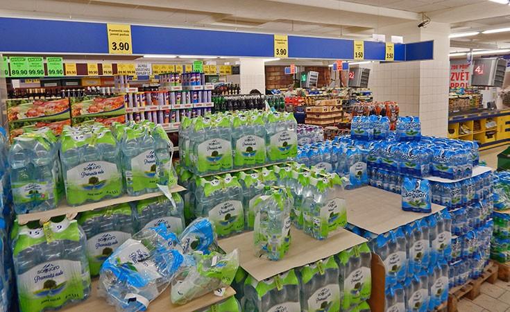 Supermarket Lidl u Pragu