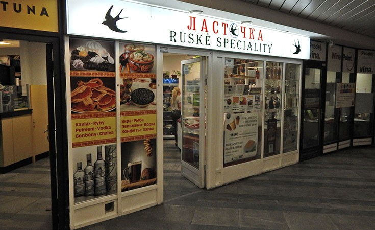 Russian store in Prague