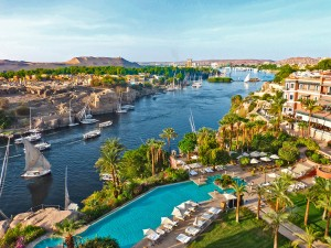 Aswan and the Nile river