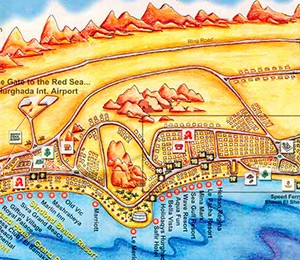 Map of Hurghada