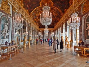 Hall of Mirrors in the Versailles Palace