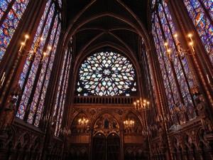 Sainte-Chapelle or the royal chapel in Paris
