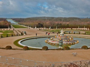 Gardens of the Versailles Palace near Paris