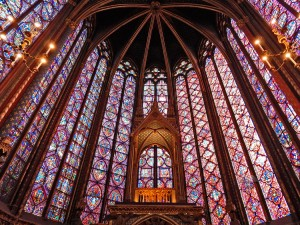 Sainte-Chapelle or the royal chapel in Paris