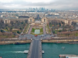 View on Palais de Chaillot and Defense district