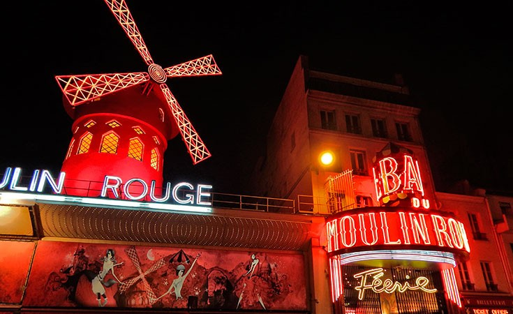Moulin Rouge cabaret in Paris