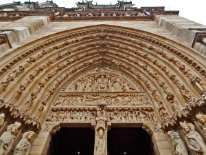 Entrance to the Notre Dame Cathedral