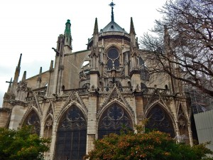 Rear façade of the Notre Dame Cathedral