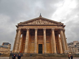 The entrance to the Pantheon