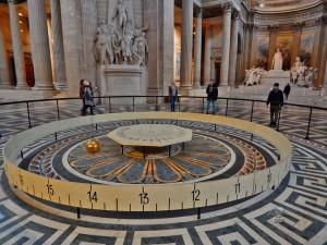 Foucault pendulum at Pantheon in Paris