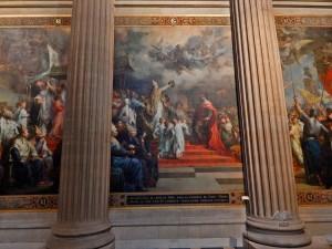 Beautiful frescoes inside the Pantheon