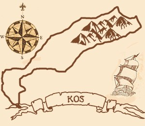 Map of Kos Island