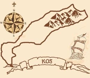 Mapa Ostrva Kos