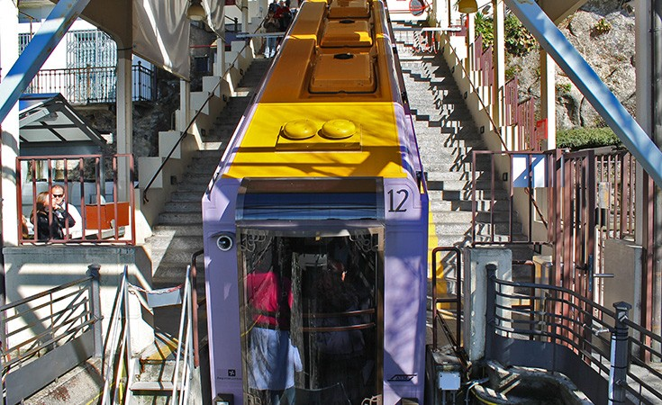 Cable car in Como
