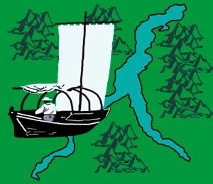 Mapa Jezera Komo