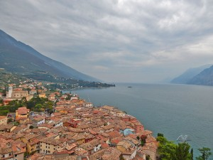 Malcesine town on Lake Garda