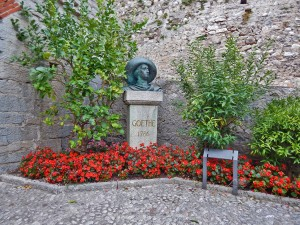 Monument to the German writer Goethe