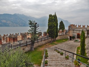 Scaligero Castle in Malcesine town on Lake Garda