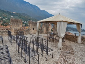 Beautiful Rivellino terrace at Malcesine Castle
