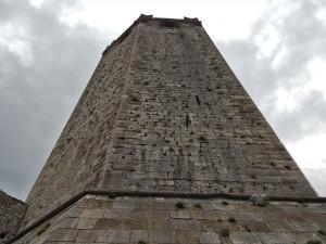 High tower of the Malcesine Castle on Lake Garda