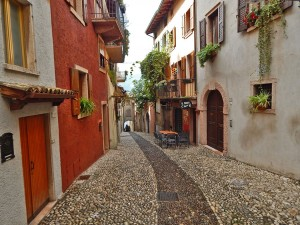 Malcesine town on Lake Garda