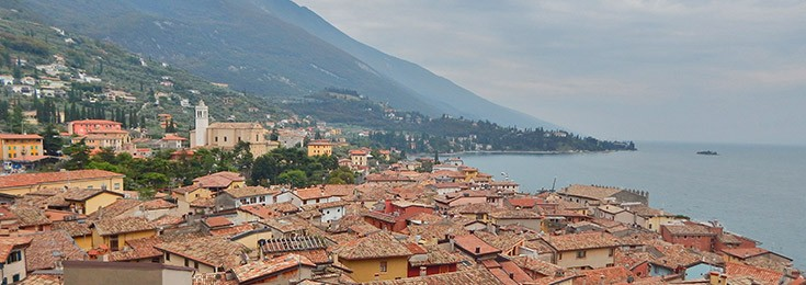 Malcesine town on the Lake Garda