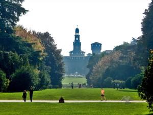 Sempione park i Sforca zamak