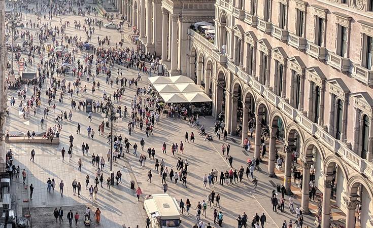 Corso Vittorio Emanuele II- Via Torino- Via Dante