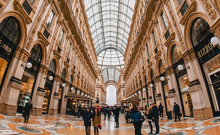 Gallery Vittorio Emanuele II - an exclusive shopping zone