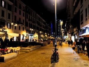 Korzo Komo u Milanu noću