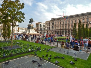 Piazza of Duomo in Milan