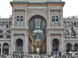 Entrance to the Gallery Vittorio Emanuele II