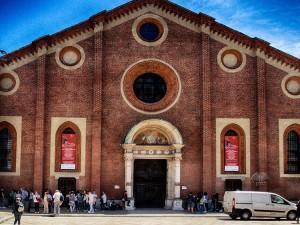 Entrance to the church Santa Maria delle Grazie